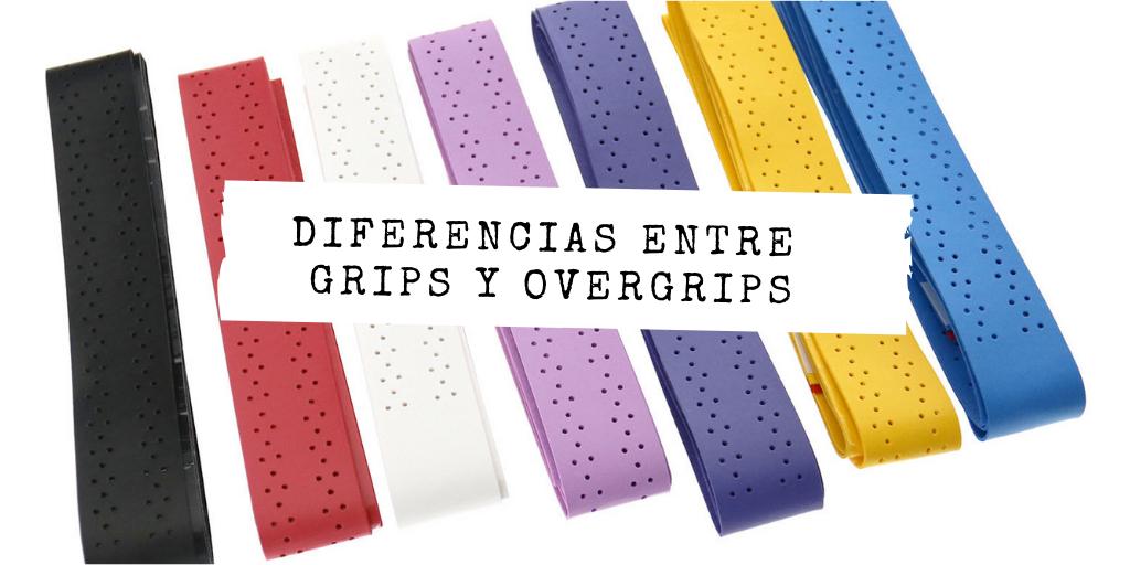 Diferencia entre grip y overgrip